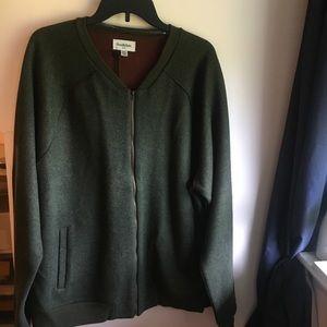 Goodfellow Olive wool bomber jacket